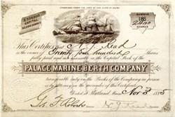 Palace Marine Berth Company -  Portland, Maine -1885