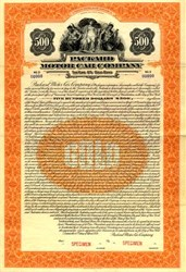 Packard Motor Car Company Gold Bond - Michigan 1921
