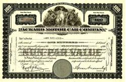Packard Motor Car Company Stock 1930's