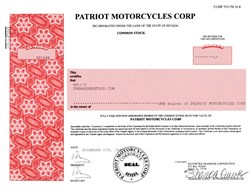 Patriot Motorcycles Corp - Nevada 2001