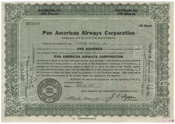 Pan American Airways Issued To And Signed On Verso By Powel Crosley, Jr (owner of the Cincinnati Reds) - 1937