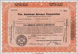 Pan American Airways Corporation 1937 - Early Pan Am Plus Postcard