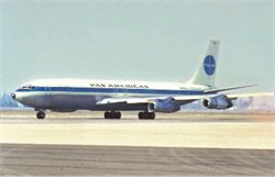 Pan Am Airways postcard Boeing 707-321