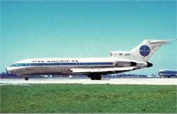 Pan Am Airways postcard Boeing 727-121