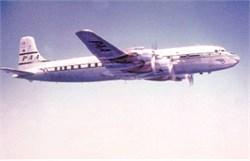 Pan Am Airways postcard DC7