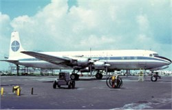Pan Am Airways postcard Douglas DC7C