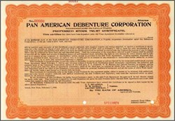 Pan American Debenture Corporation 1922- Virginia
