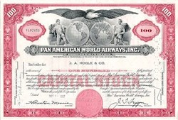 Pan American World Airways circa 1950's - Juan Trippe PLUS Pan American Airways Fairchild FC-71 1930's Postcard