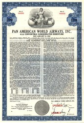 Pan American World Airways, Inc. - Convertible Bond - New York 1964