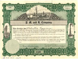 P.M. and R. Company - Pennsylvania 1920