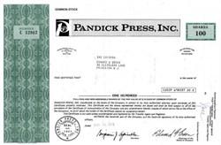 Pandick Press, Inc. - Famous IPO Printer