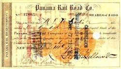 Panama Rail Road Co. ( Imprinted Revenue Stamp) 1872