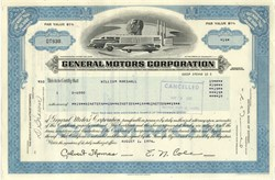 Pack of 100 Certificates - General Motors Corporation (Pre Bankruptcy) - Price includes shipping costs to U.S.