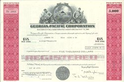Pack of 100 Certificates - Georgia-Pacific Corporation - Price includes shipping costs to U.S.