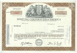 Pack of 100 Certificates - Hospital Corporation of America - Price includes shipping costs to U.S.