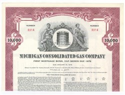 Pack of 100 Certificates - Michigan Consoldiated Gas Company - Price includes shipping costs to U.S.