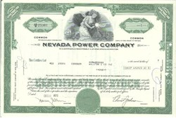 Pack of 100 Certificates - Nevada Power Company - Price includes shipping costs to U.S.