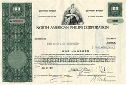 Pack of 100 Certificates - North American Philips Corporation (Koninklijke Philips N.V. (Royal Philips, commonly known as Philips) )- Price includes shipping costs to U.S.