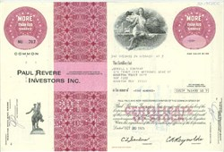 Pack of 100 Certificates - Paul Revere Investors Inc. - Price includes shipping costs to U.S.
