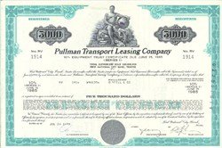 Pack of 100 Certificates - Pullman Transport Leasing Company - Price includes shipping costs to U.S.