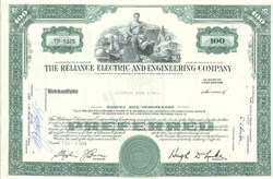 Pack of 100 Certificates - Reliance Electric and Engineering Company - Price includes shipping costs to U.S.