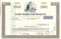 Pack of 100 Certificates - Carter Hawley Hale Stores, Inc. (Became Federated Department Stores) - Price includes shipping costs to U.S.