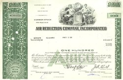 Pack of 100 Certificates - Air Reduction Company, Incorporated - Price includes shipping costs to U.S.