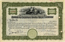 Pack of 100 Certificates - American Exchange Irving Trust Company - Price includes shipping costs to U.S.