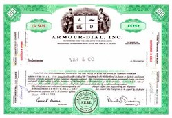 Pack of 100 Certificates - Armour-Dial, Inc ( Now Henkel Corporation )- Price includes shipping costs to U.S.