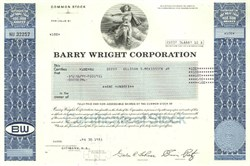 Pack of 100 Certificates - Barry Wright Corporation - Price includes shipping costs to U.S.