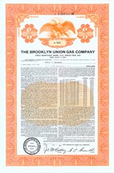 Pack of 100 Certificates - Brooklyn Union Gas Company (Now National Grid USA) - Price includes shipping costs to U.S.