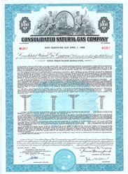 Pack of 100 Certificates - Consoldiated Natural Gas Company (acquired by Dominion Resources) $1000 Bond - Price includes shipping costs to U.S.