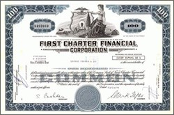 Pack of 100 Certificates - First Charter Financial - Price includes shipping costs to U.S.