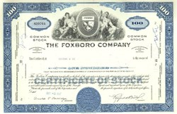 Pack of 100 Certificates - The Foxboro Company - Price includes shipping costs to U.S.