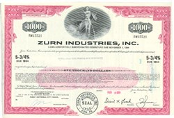 Pack of 100 Certificates - Zurn Industries, Inc. - Price includes shipping costs to U.S.