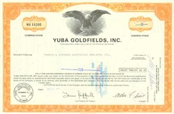 Pack of 100 Certificates - Yuba Goldfields, Inc - Price includes shipping costs to U.S.