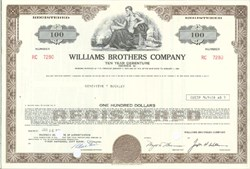 Pack of 100 Certificates - Williams Brothers Company - Price includes shipping costs to U.S.