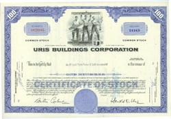 Pack of 100 Certificates - Uris Buildings Corporation (President, Harold D. Uris) - Price includes shipping costs to U.S.