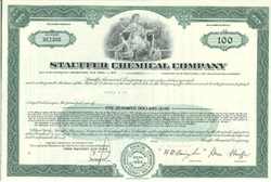 Pack of 100 Certificates - Stauffer Chemical Company - Price includes shipping costs to U.S.