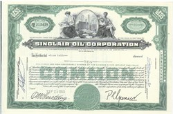 Pack of 100 Certificates - Sinclair Oil Corporation - Price includes shipping costs to U.S.