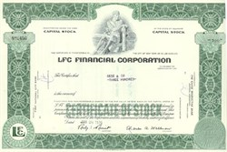 Pack of 100 Certificates - LFC Financial Corporation - Price includes shipping costs to U.S.