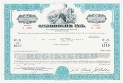 Pack of 100 Certificates - Chadbourn, Inc. (textile and apparel company) North Carolina - Price includes shipping costs to U.S.