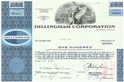 Pack of 100 Certificates - Dillingham Corporation - Price includes shipping costs to U.S.