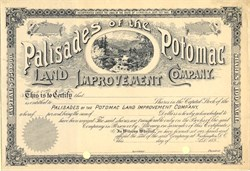 Palisades of the Potomac Land Improvement Company - Virginia 1890's