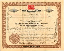 Pacific Oil Company, Limited - Los Angeles, California 1901