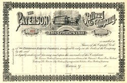 Paterson Horse Railway Company - New Jersey 1888
