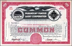Paramount Famous Lasky Corporation ( Early Paramount Pictures )