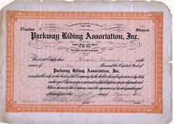 Parkway Riding Association - New York 1917