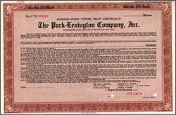 Park - Lexington Company 1937 - New York