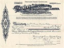 Palmers Shipbuilding & Iron Company, Limited - England 1927